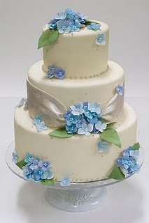 This would be a lovely Bridal Shower Cake!