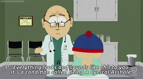 """When Stan realized he was too negative: 