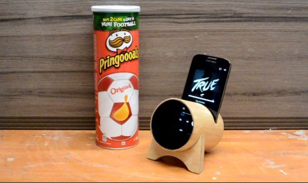 Reutilizar + Caixa Pringles + Paus de gelado = Coluna/Amplificador! / Upcycling + Pringles box + Popsicle sticks = Amplifier! | Reutilizar a Mente