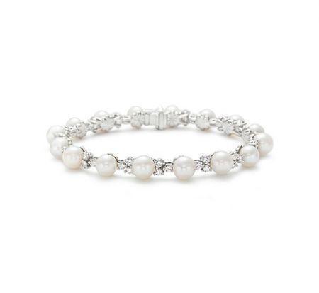 Tiffany Aria Bracelet - Bracciali Tiffany più belli di sempre: modello in platino con perle e diamanti