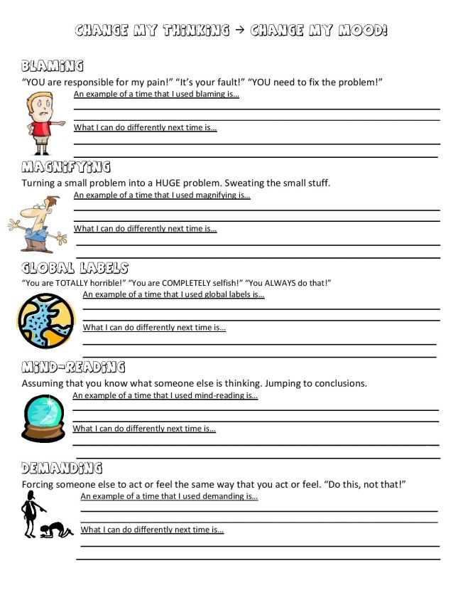 Printables Free Printable Anger Management Worksheets For Kids 1000 images about reframe anger coping skills on pinterest 5 distortions worksheet