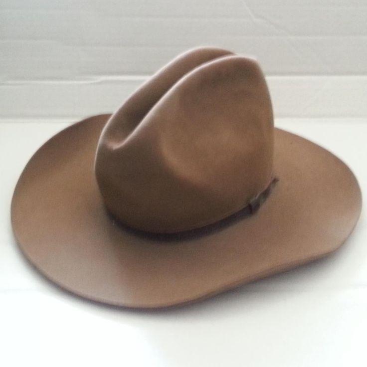 RESISTOL GUNSMOKE CANOYN  Size 7 1/4 #leather Cowboy Hat visit our ebay store at  http://stores.ebay.com/esquirestore