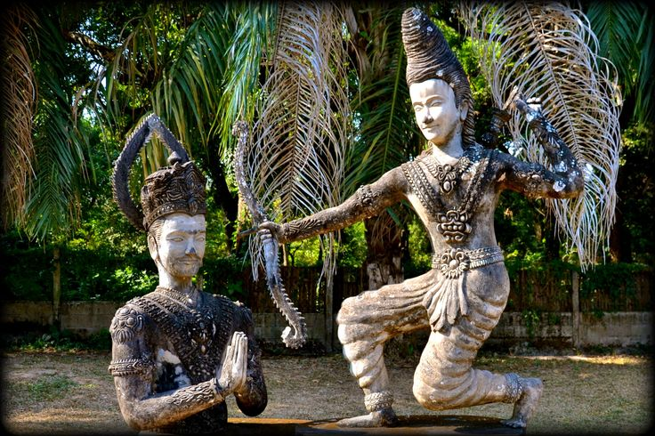 Buddha Park Sculptures are everywhere