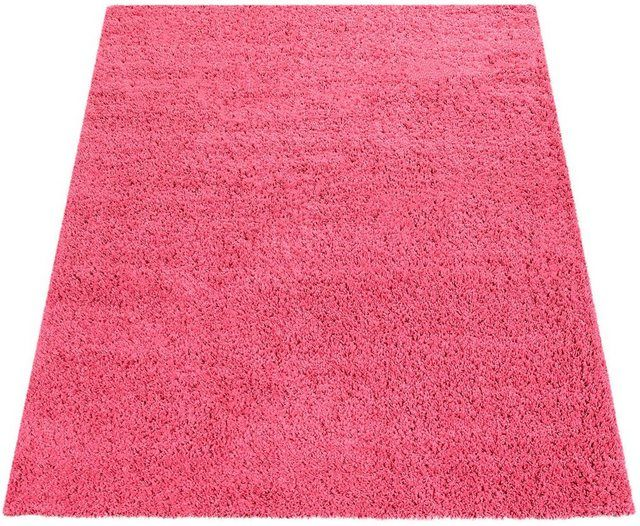Teppich Sky 250 Rechteckig Hohe 35 Mm Einfarbiger Hochflor Shaggy In 2020 Teppich Rosa Hochflor Teppich Und Textilien