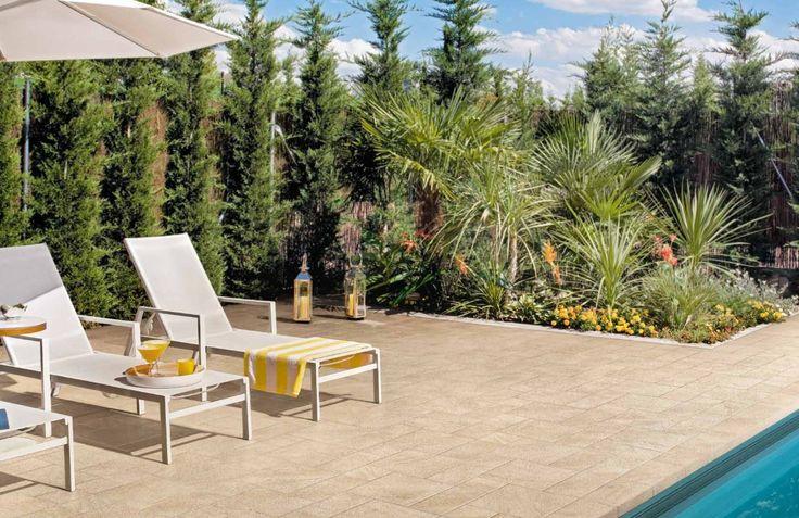 Carrelage terrasse 30x60 Stonetrack R11 A + B + C - Supergres  Supergres carrelage exterieur et dalle piscine Carrelage extérieur terrasse