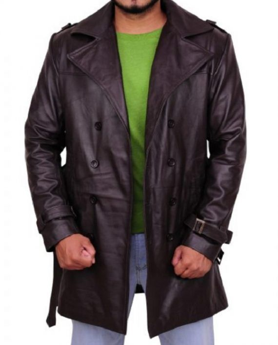 Watchmen Jackie Earle Haley Leather Coat (5)