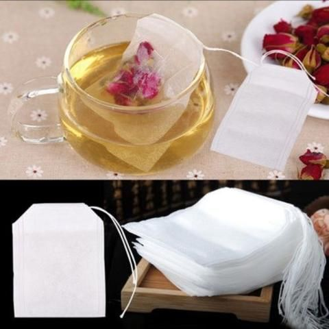500Pcs/Lot of Teabags Empty Tea Bags With String Heal Seal Filter New 5.5 x 6CM