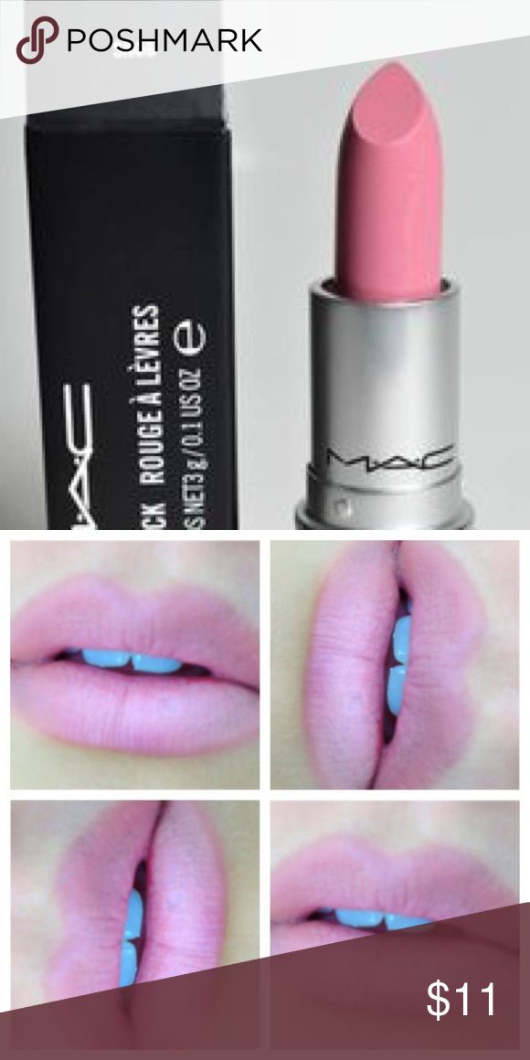 MAC Snob Lipstick Described on MAC website as a gorgeous pale pink color with a satin finish. Opened and used (with lipbrush) 3-4x max. Approx 80% of product remaining. MAC Cosmetics Makeup Lipstick