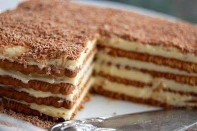 Gâteau aux petits-beurres parfum café super bon