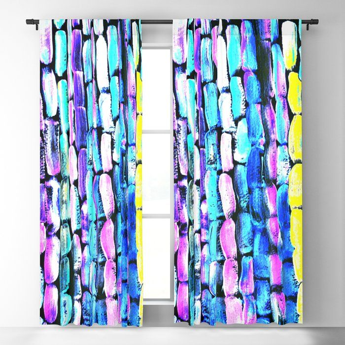 Soon Ice On Sugar Blackout Curtain By Anoellejay Society6 Don T Miss Out Bright Bold Blue Green And Pink Artwork And Pink Artwork Art Of Living Dream Decor