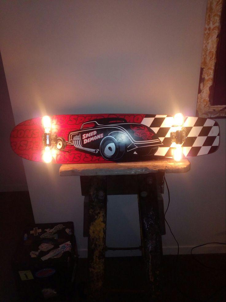 Wicked longboard wall lamp