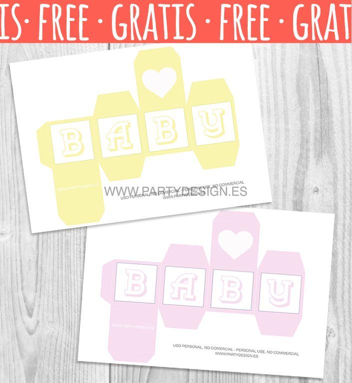 Dados letras baby shower para imprimir gratis, cube letter baby - free printable baby shower guest list