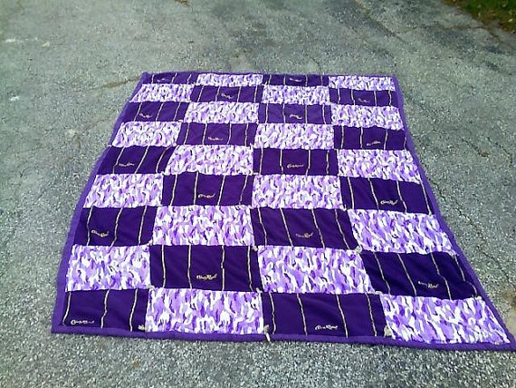 Crown Royal Rag Quilt  Purple camo and Crown Royal by bitspeaces, $200.00