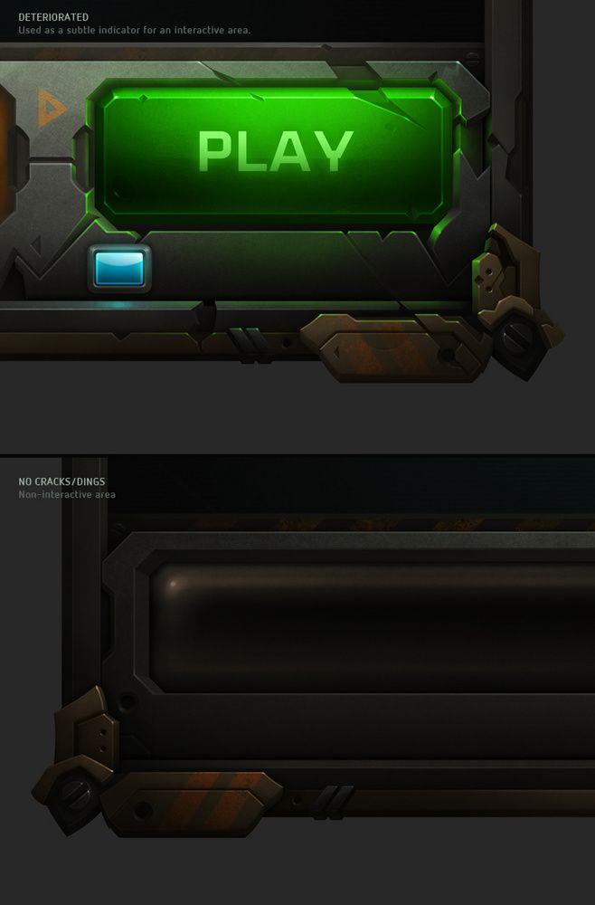 质感机械风格游戏界面赏析 | GAMEU...