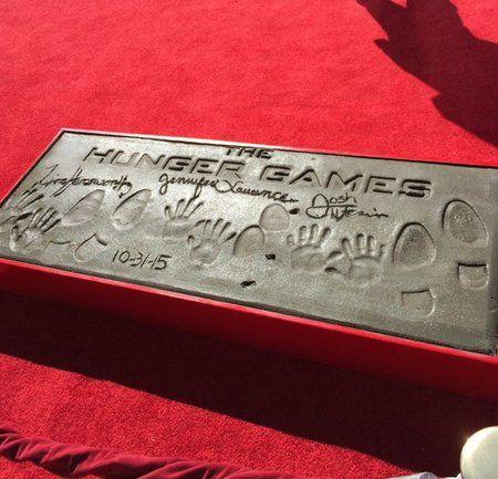 Jennifer Lawrence, Josh Hutcherson & Liam Hemsworth Imprint Ceremony at TCL Chinese Theaters inHollywood - The Hunger Games News - Panem Propaganda