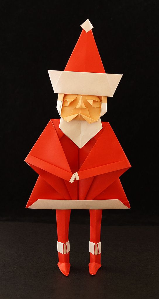 Santa claus toyoaki kawai bohoho pinterest origami for Make origami santa claus