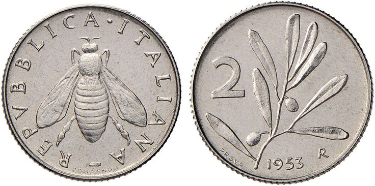 NumisBids: Nomisma Spa Auction 50, Lot 498 : Repubblica italiana (1946-) 2 Lire 1953 Prova – P.P. 732 IT (g...