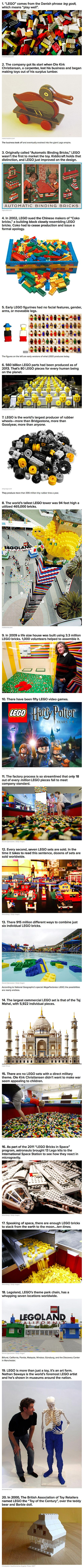Here are some fun and interesting things you may not have known about LEGO.