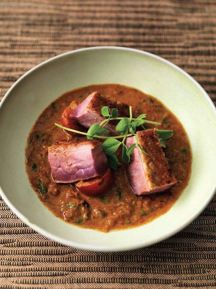Duck curry (Bangladesh) recipe from Atul's Curries of the World by Atul Kochhar- This duck curry has a really good depth of spices. For a more modern presentation, you can choose to fry the duck pieces separate from the sauce, and serve on top of the sauce..... | Cooked
