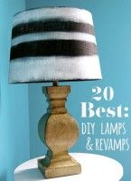 20 Best: DIY lamp & makeover ideas Some really great ideas here!