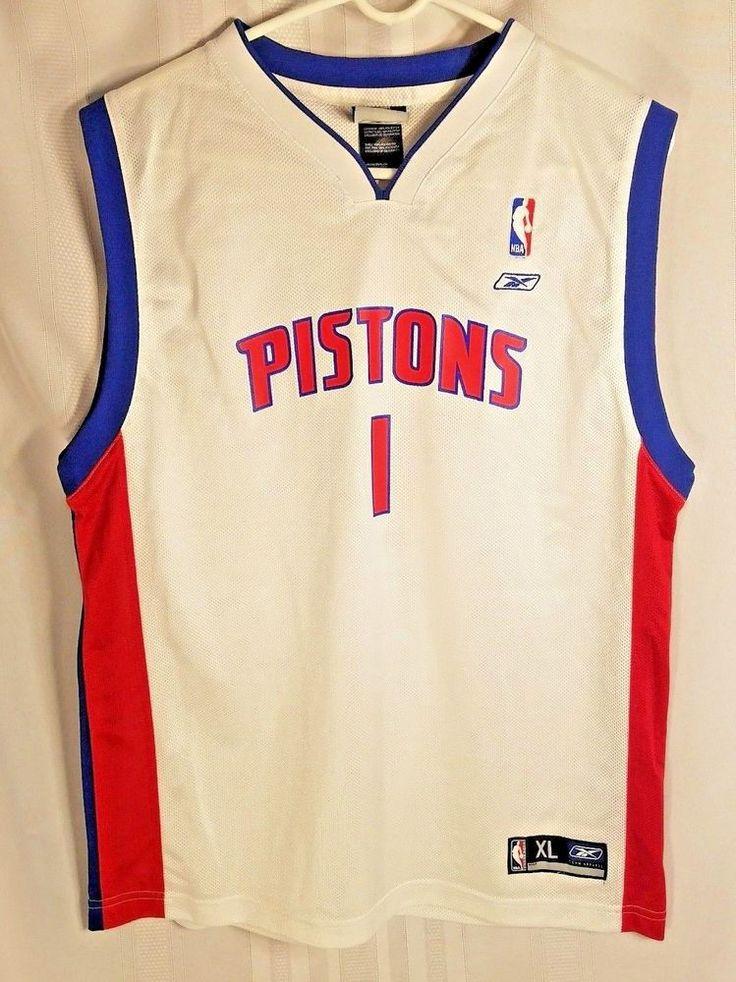 Detroit Pistons Chauncey Billups Reebok NBA Basketball Jersey #1 Away Kids XL #Reebok #DetroitPistons