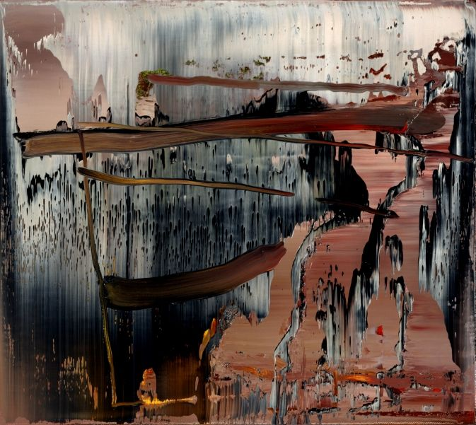 Gerhard Richter, 1999- again, the brilliant clash of hot and cold, horizontal and vertical. Almost tears at the canvas.