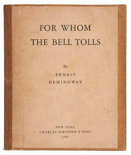 hemmingway books pinterest | book / Rare Hemingway Proof Up For Auction