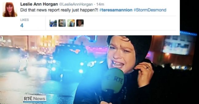 WATCH: RTE's Teresa Mannion Is Twitter's Hero After This News Report