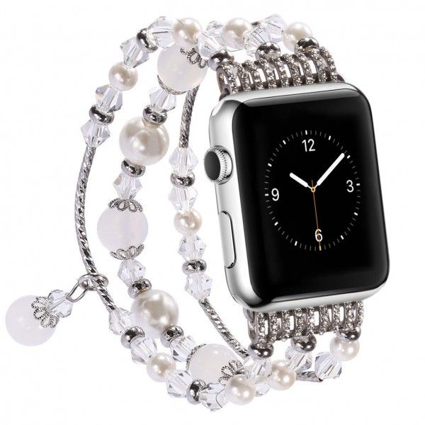 Blingmeister Glamour Armband Fur Apple Watch 42 44 Mm Silber Apfeluhr Armband Glamour