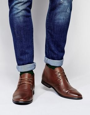 Enlarge ASOS Chukka Boots. 53$ leather look