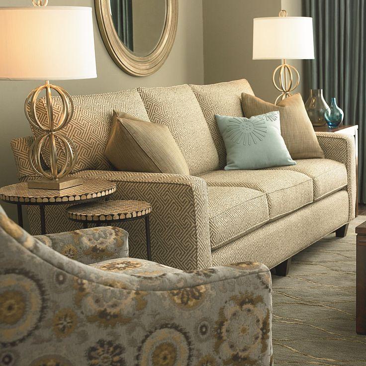 Great Shop For The Bassett Custom Upholstery   Townhouse Custom Queen Sleeper At  Hudsonu0027s Furniture   Your Tampa, St Petersburg, Orlando, Ormond Beach U0026  Sarasota ...