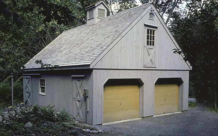 24'x30' 2 bay garage with full loft exterior Pinterest