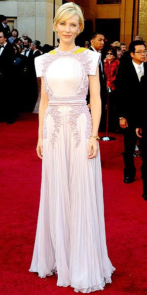 Cate Blanchette Oscars 2011. Givenchy Haute Coture. Not a fan. She should be wearing this to a costume gala, not the Oscars.