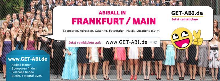 Abiball FRANKFURT - alle Infos zur Abiball-Planung in Frankfurt/Main findest Du auf dieser Seite - z.B. Adressen und Angebote für Catering, Buffet & Getränkeservice in Frankfurt, Kontakte und Tipps zum passenden Festsaal/Halle, Abiballfotografen aus Frankfurt und viele weitere Infos (kostenlos): https://www.facebook.com/pages/Abiball-Frankfurt/1485771098355901