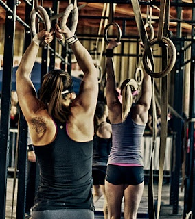 Crystal Nelson and the women of Crossfit Central...
