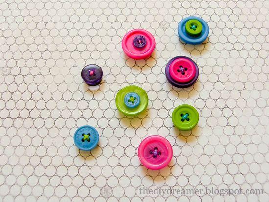 Super cute button magnets!