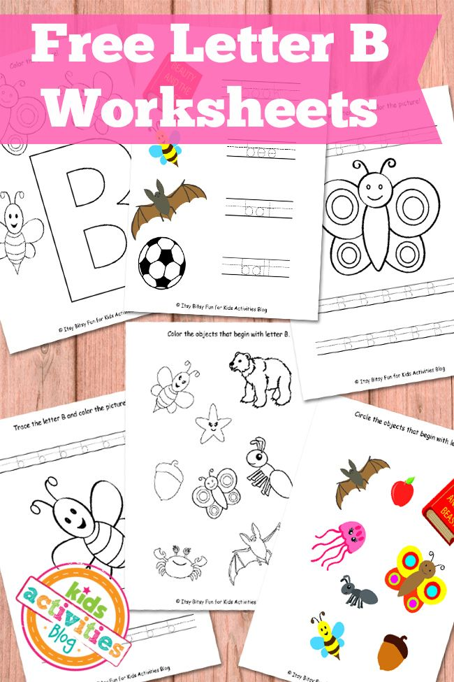 Free printables of the Letter B - these are too cute!
