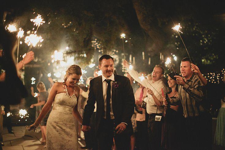 Tips for a sparkler farewell at wedding receptions. By Cavanagh Photography http://cavanaghphotography.com.au