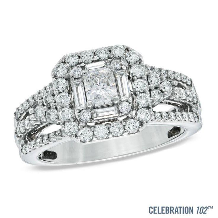Zales Diamond Accent Art Deco-Inspired Lattice Ring in Sterling Silver TI1OVCxKG1