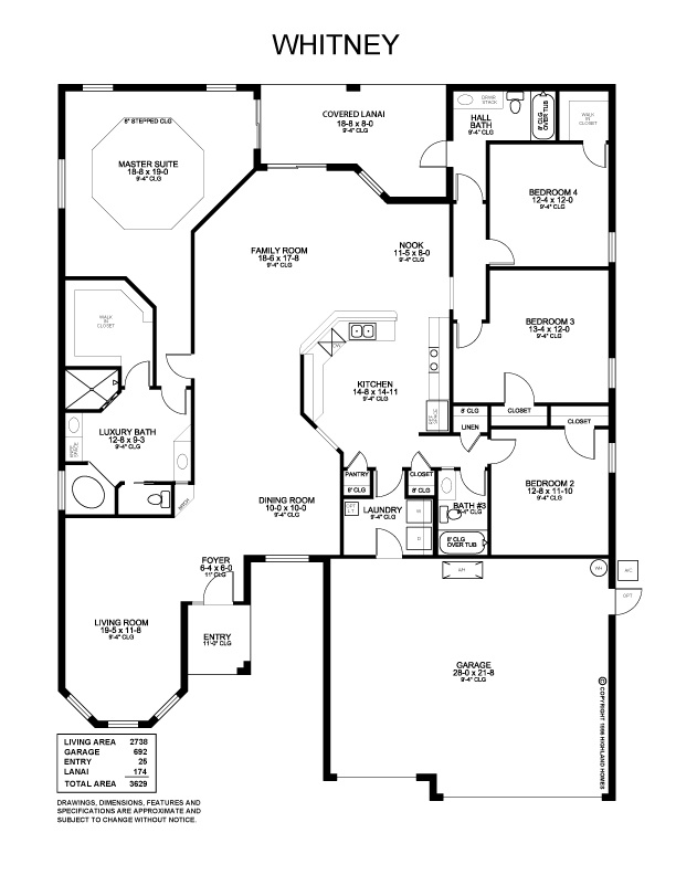 Highland Homes Wonderful Whitney Floor Plan Boasts 5 Bedrooms 3 Baths And A