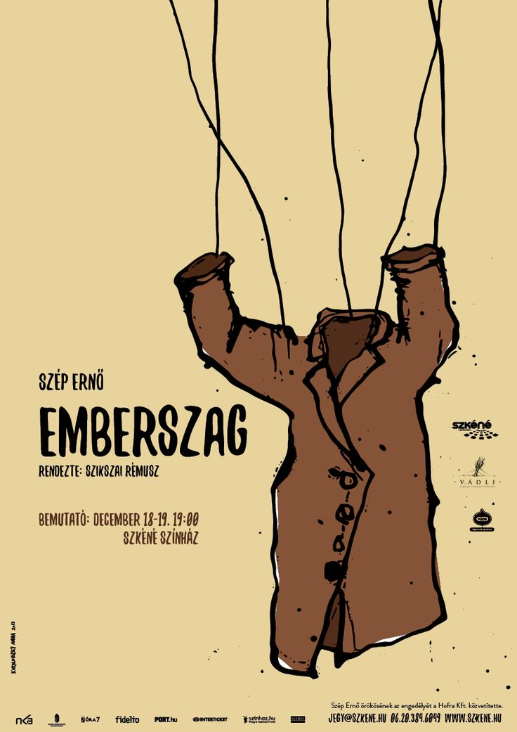 Ernő Szép: The Smell of Humans - A Memoir of the Holocaust in Hungary. Theatre poster design: Anna Korolovszky