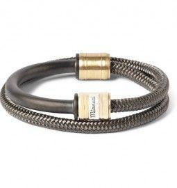 Miansai Woven Cord And Metal Wrap-bracelet