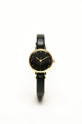 はなもっこ 日本の美を楽しむ腕時計 うるしシリーズ 黒漆 レディース ゴート黒ベルト