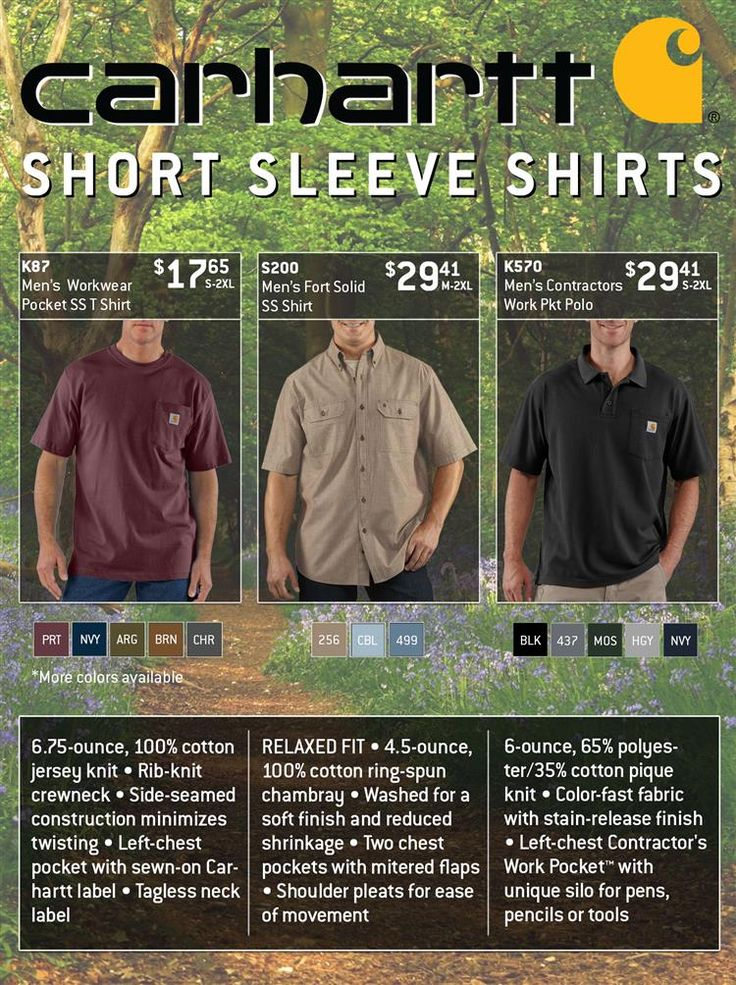 Carhartt Short Sleeve Shirts