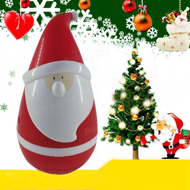 Christmas Mini Tumbler Santa Claus Bluetooth Music Speaker Wireless Smart Audio Toys