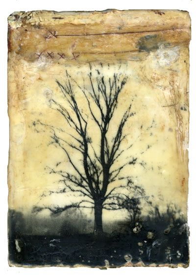 outside_of_time by Bridgette Guerzon Mills, mixed media encaustic photo