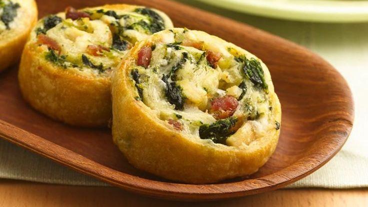 Cheesy Pollo y Espinaca Molinetes