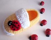 Ladybug Crochet Baby BootiesBugs Ladybugs, Crochet Booty, Ladybugs Crochet, Baby Crochet, Crochet Baby Booties, Crochet Baby Booty, Baby Shoes, Booty Size, Baby Stuff