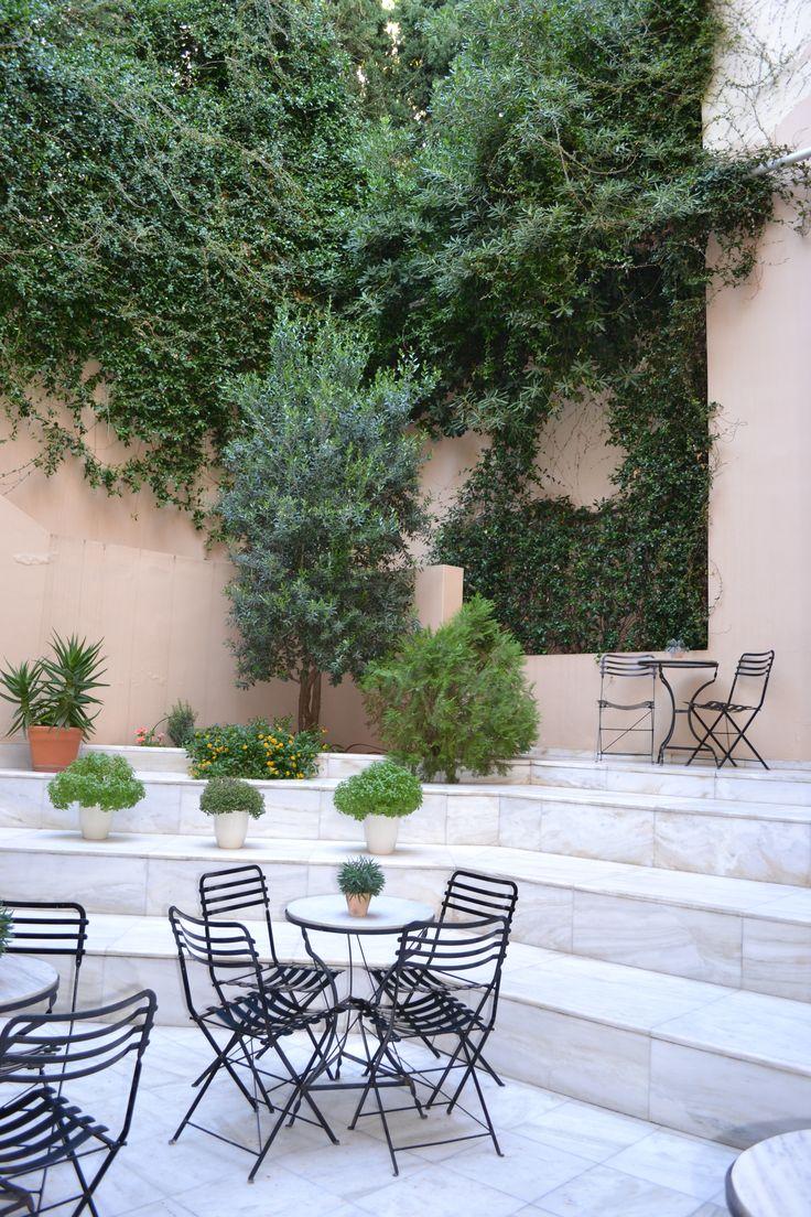 The Ilias Lalaounis Museum atrium.  For more visit http://thetravelporter.com/blog/2016/5/31/city-breaks-best-museum-cafes-in-athens