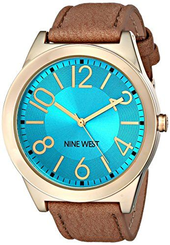 Nine West Womens NW1660TQCM Analog Display Japanese Quartz Tan Watch -- Click image to review more details.Note:It is affiliate link to Amazon.